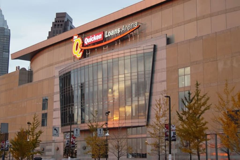 Short 5 minute walk to Quicken Loans Arena