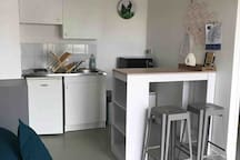 Studio avec belle terrasse La Rochelle Aquarium