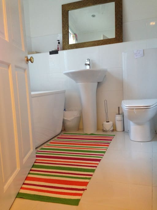 Family bathroom with large tub to soak away the days stress...
