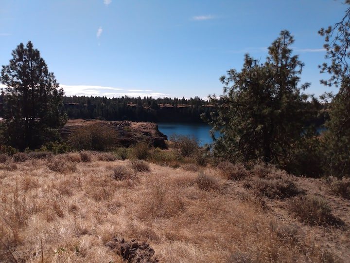 Camping at Williams Lake and, also, GOATS!