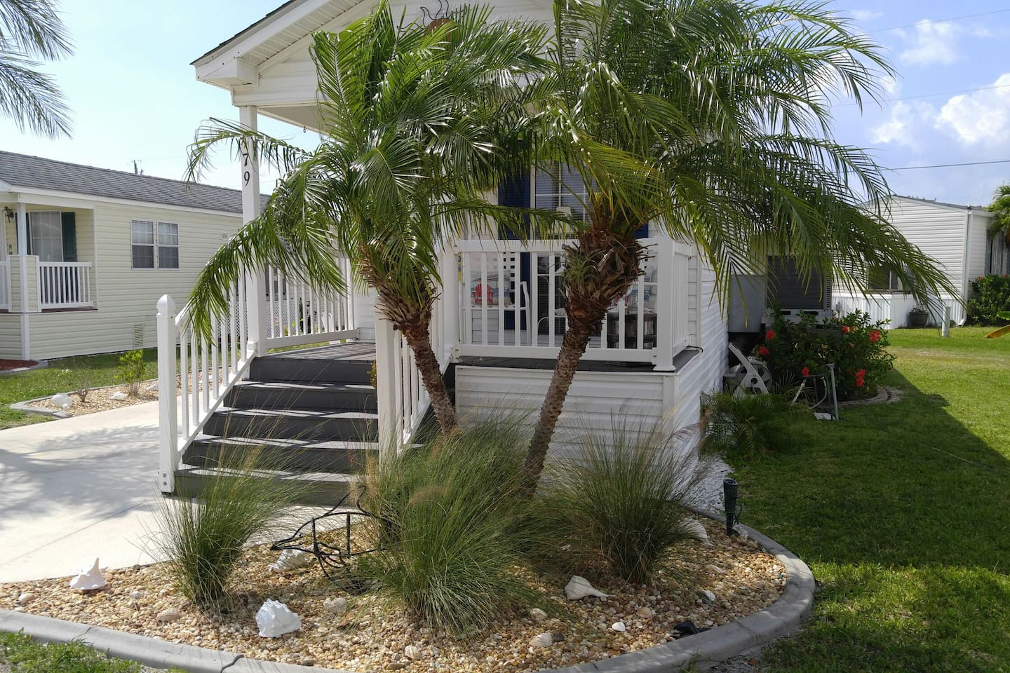 Tropical landscape gives the property a true Florida look and feel