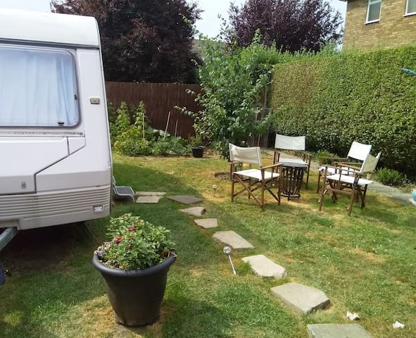 Holiday caravan . Next to the park.  Dog friendly.