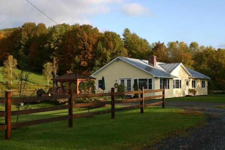 Dana Road House  Sunlit VT Country Home w/HotTub