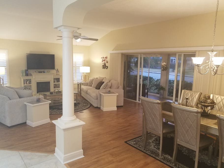 Wide Open Living & Dining Area