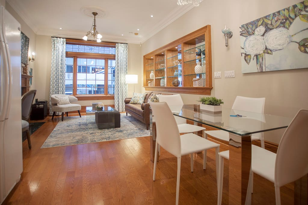 Gorgeous! High ceilings and hardwood floors throughout