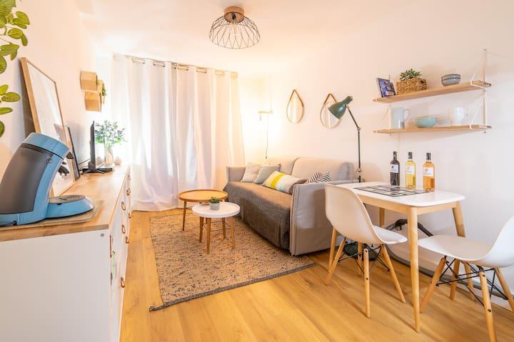 Au cœur de Montpellier : Netflix + balcon + wifi