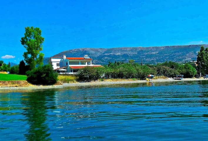 Villa Etrusca, on the beach - Amarynthos - Willa