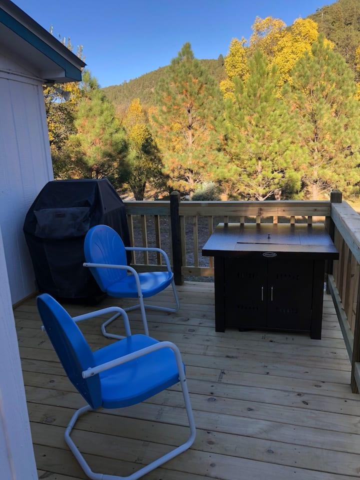 Camp @ Cloudcroft Mountain Cabin sleeps 9