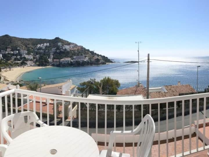 EDEN- Nice 2 bedrooms apartment with sea view in Canyelles with private garage