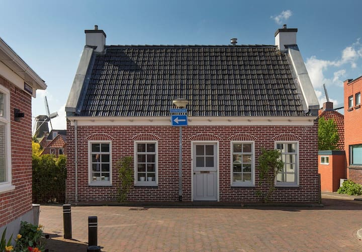 Gezellig huis in centrum Winsum, route Pieterpad