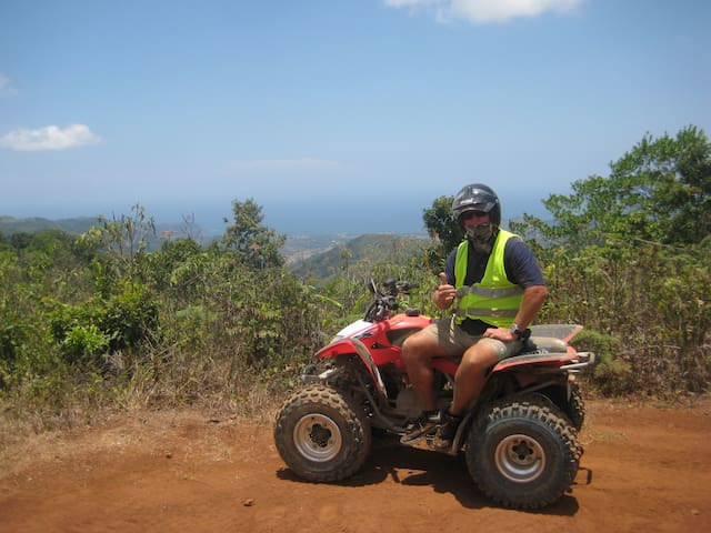 Rental Quad thru the hills behind Casa! Fun!