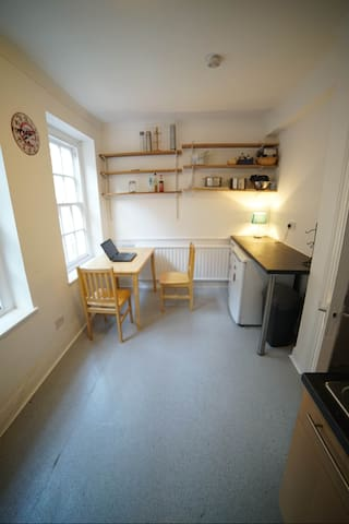 Shared kitchen space.
