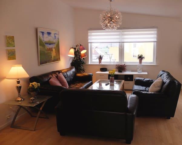 Stor lejlighed i Torshavn centrum.