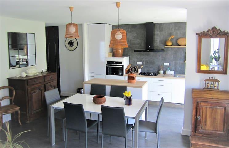 Salle à manger & cuisine ouverte