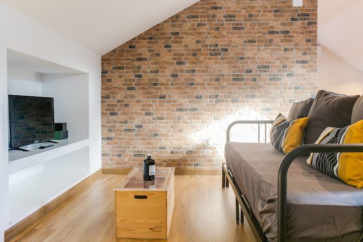 Home Out Loft B - living area details  Virtual Tour: https://360home.thats.im/homeout/loftb/