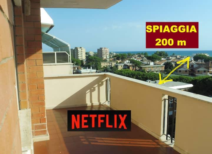 Terrace  Apartment + Beautiful Beach + Thermae