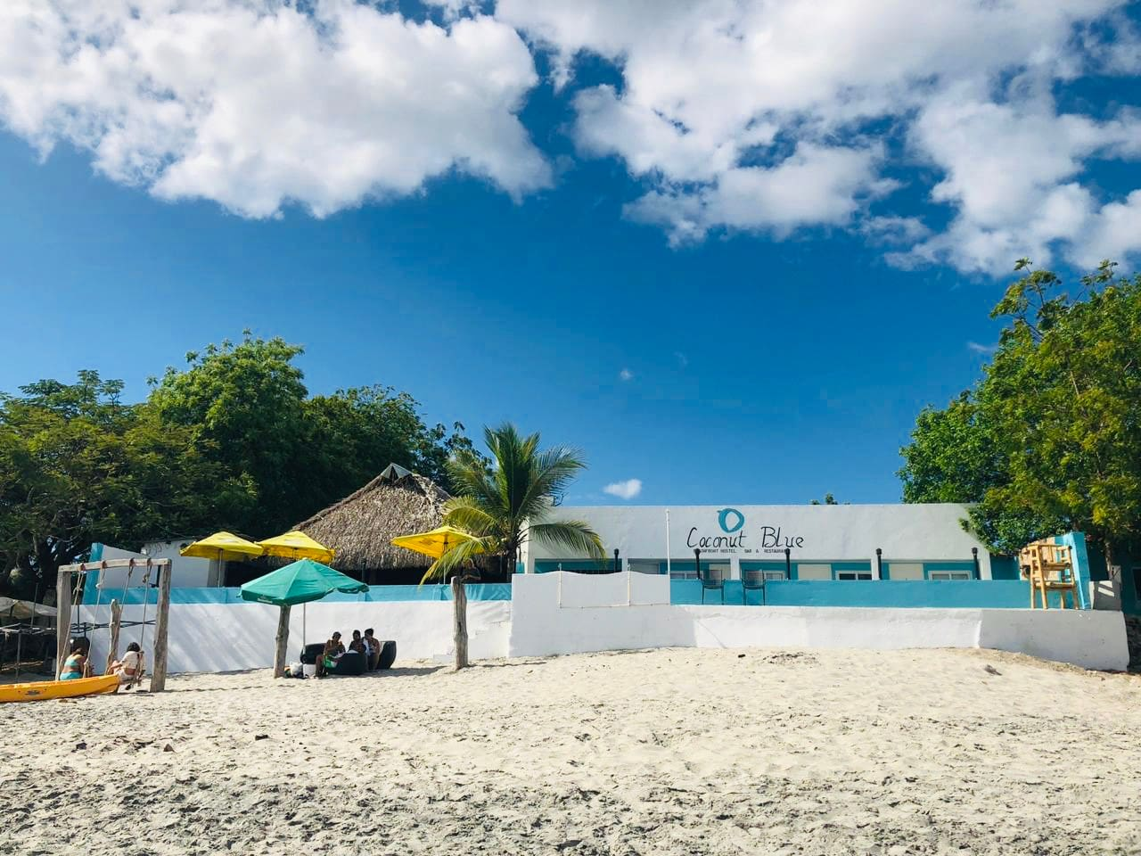 Welcome to Coconut Blue - Hostel, Beach bar and Restaurant. We offer private rooms with incredible ocean views.