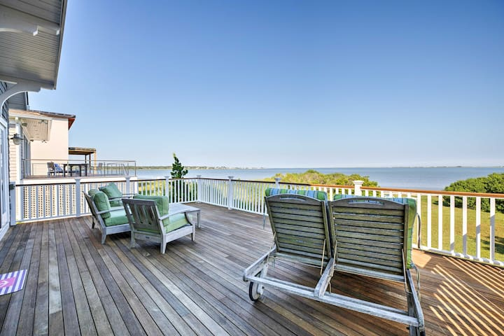 Luxe East Quogue Waterfront Home w/ Sandy Beach!
