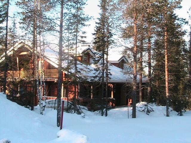 Romantic Log apartment close Levi center