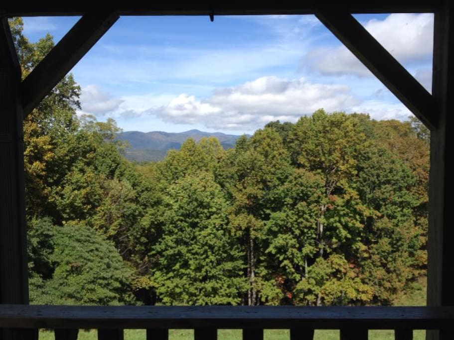 The view from the Lodge porch