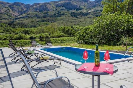 2bdrm with  pool, big terrace - Draga Bašćanska
