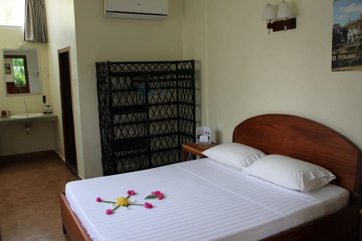 Cool room with cozy terrace in Battambang