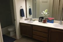 Double Sink in Private Bathroom