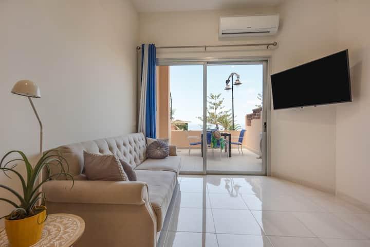 Appartement de vacances Ocean View près de la plage avec connexion Wi-Fi et terrasse