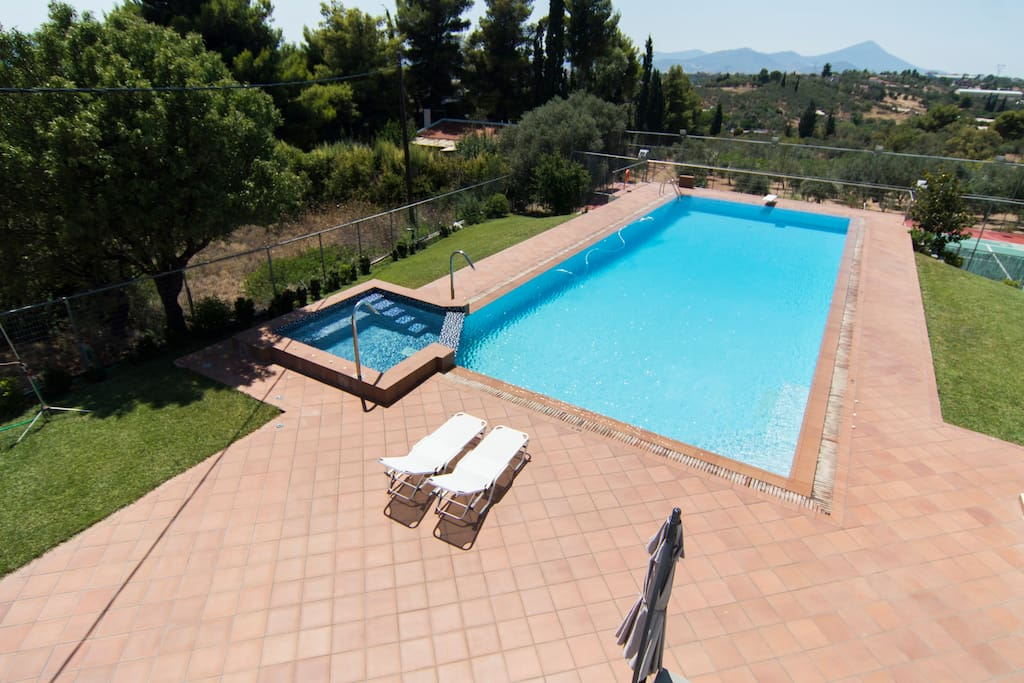 View of the pool from the Villa