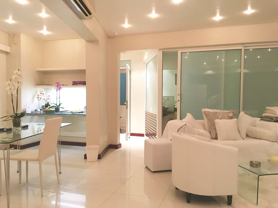 Sitting Room and Dining Area