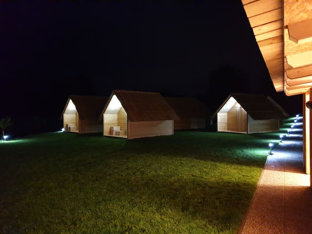 Glamping, wooden chalets - 4