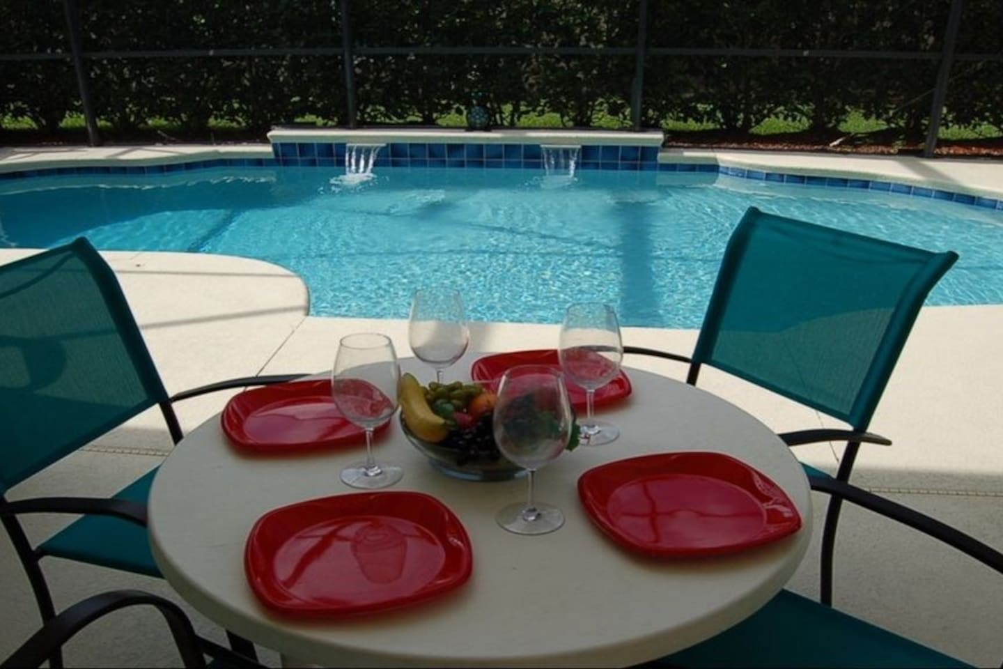 Imagine al fresco dining by your private pool