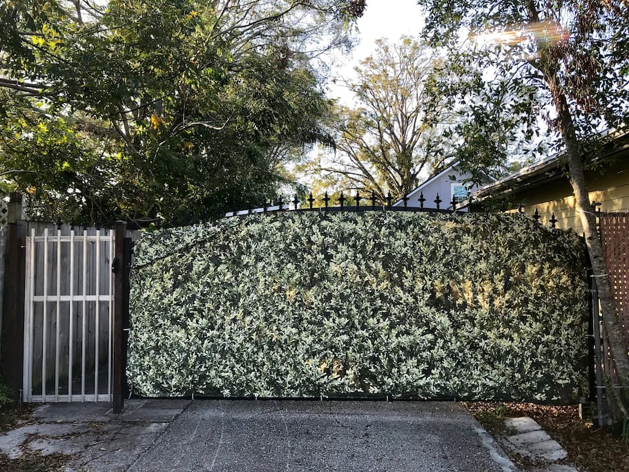 This is the entrance gate to the house. You are welcome to park your car behind this gate so you don't have to park it in the street, but there is plenty of street parking also available.