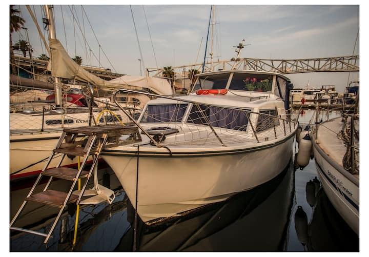 Cozy boat at Port Forum Barcelona