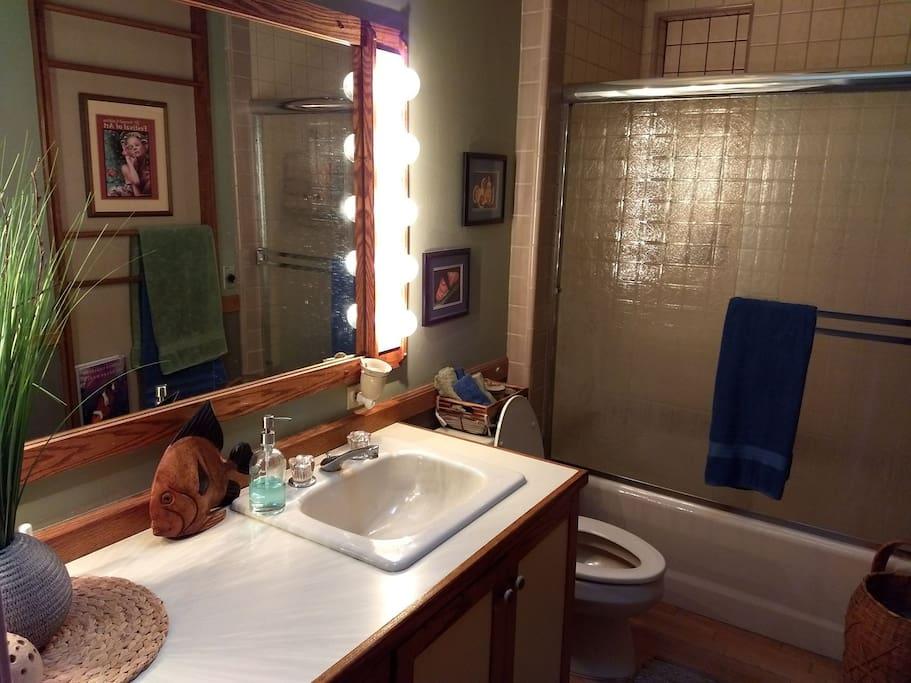 bathroom with tub/shower.