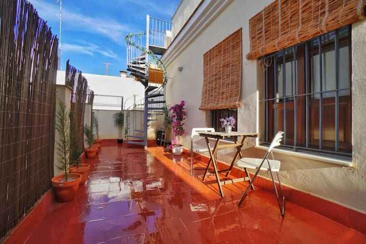 ☙Paradise in the ❤ of Seville / Private terrace