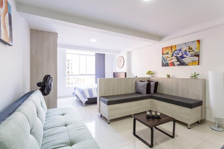 Apartaestudio ideal para conocer Medellin