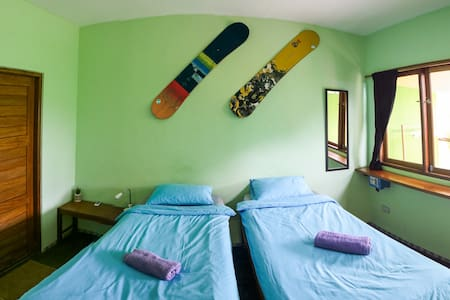 #choice of twin beds or double bed