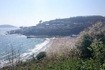 Looe beach in the stunning fishing town of Looe is only a 15 minute drive away.
