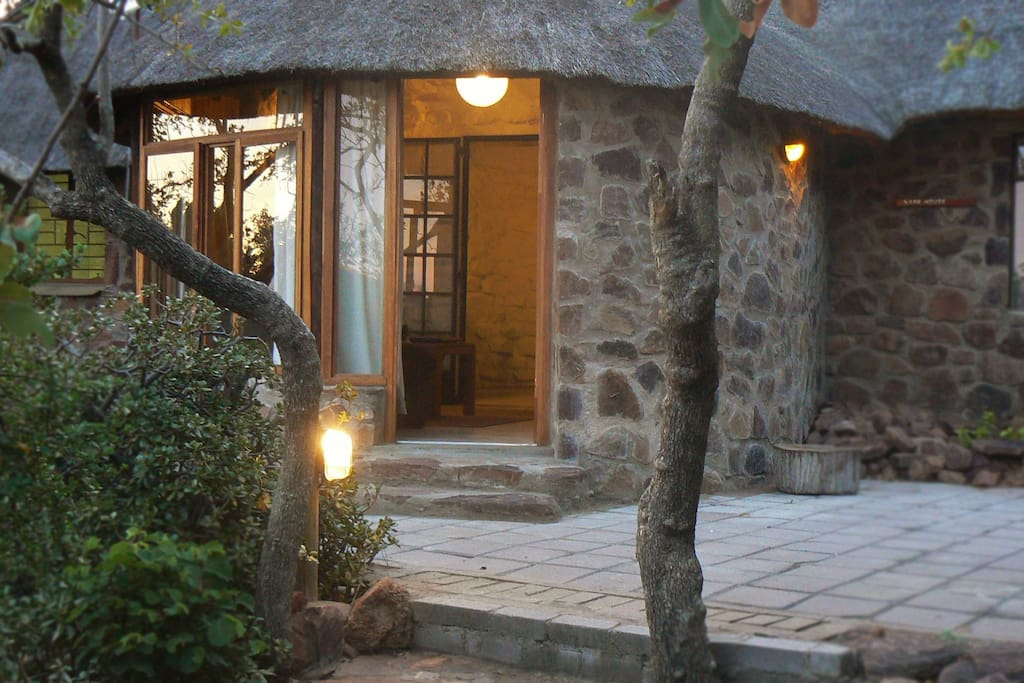 Nare house is built directly onto bedrock using natural rocks found on the plot