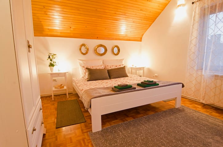 Romantic and bright large bedroom