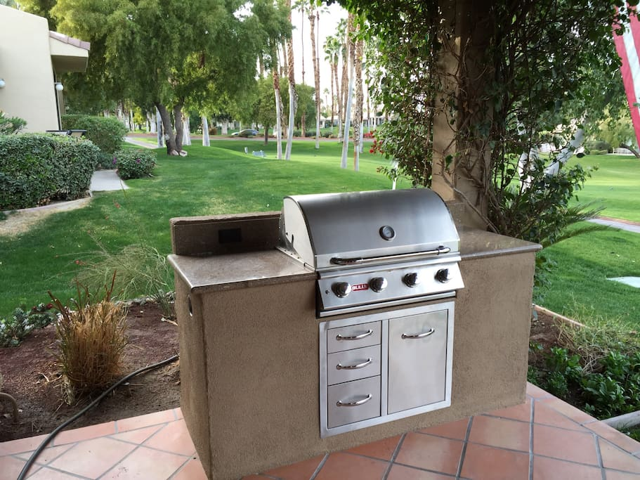 State of the art grill for barbecuing everything from burgers to a turkey....