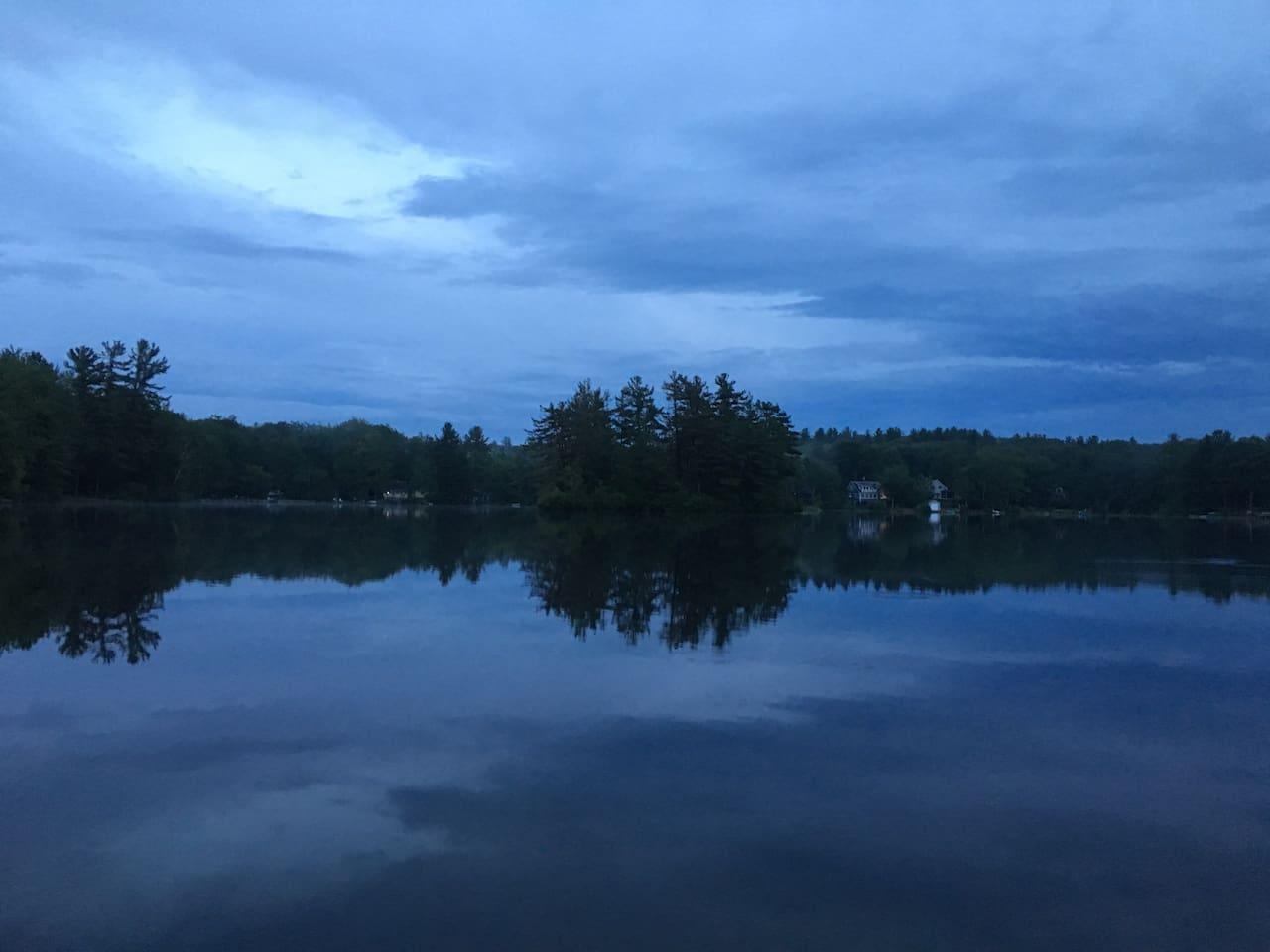 View of Lake at dusk
