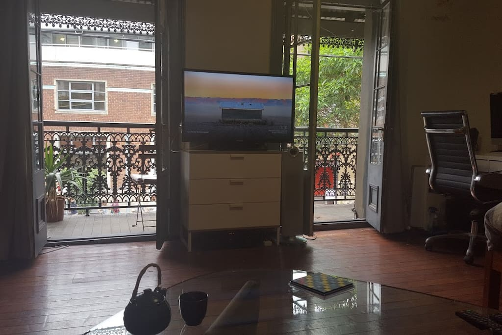 """42"""" LCD TV with Chromecast. Perfect for Netflix."""