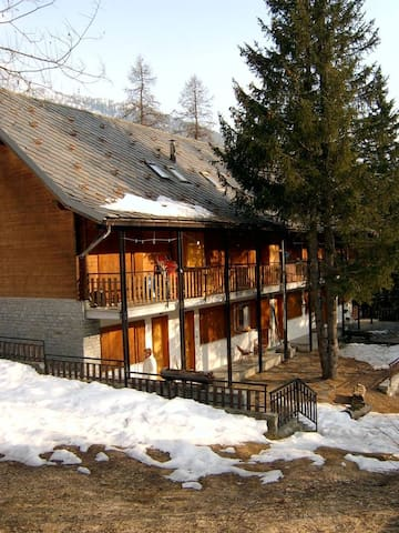 Studio on the ski slopes of the Monterosa Ski - Saint Jacques