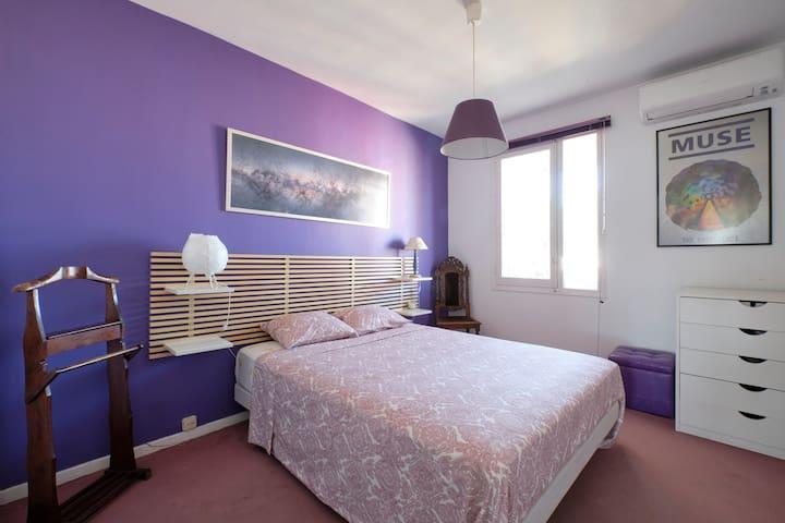 Ventas, Plaza Toros: Habitación con baño privado.