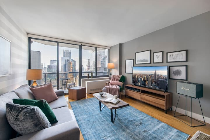 Lush 2BR near Times Square w/ Indoor pool + Gym by Blueground