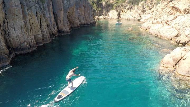 Paseo en Paddle surf por la cala