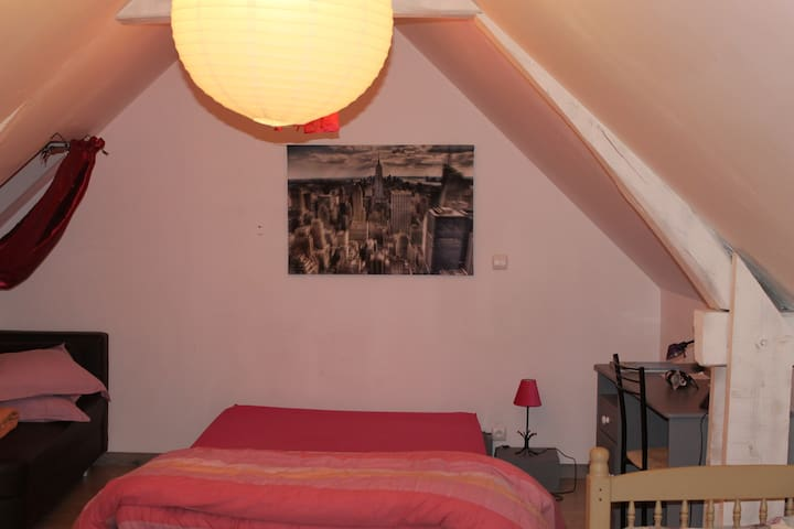 chambre spacieuse privative