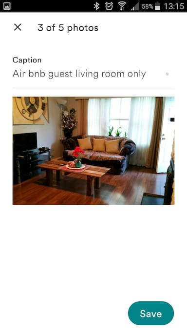 Guest living room only